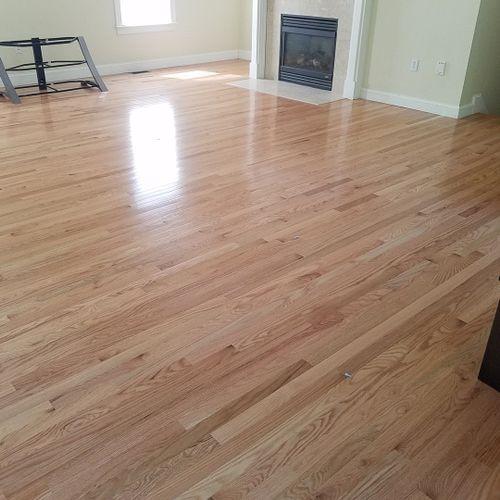Prefinished hardwood install