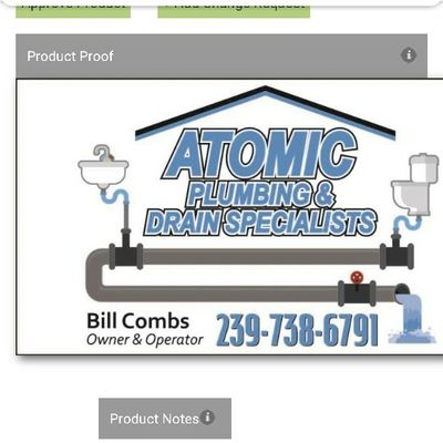 Avatar for ATOMIC plumbing and drain specialists