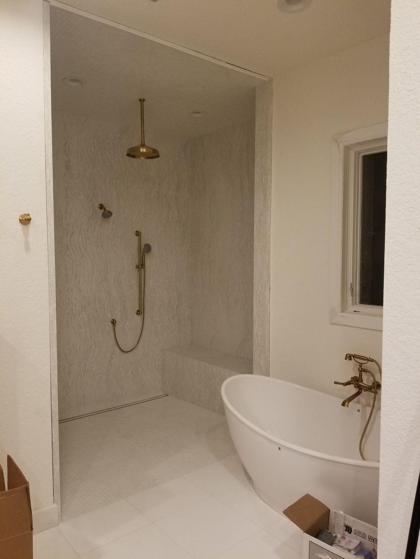 Full Quartz Walk-in Shower Enclosure