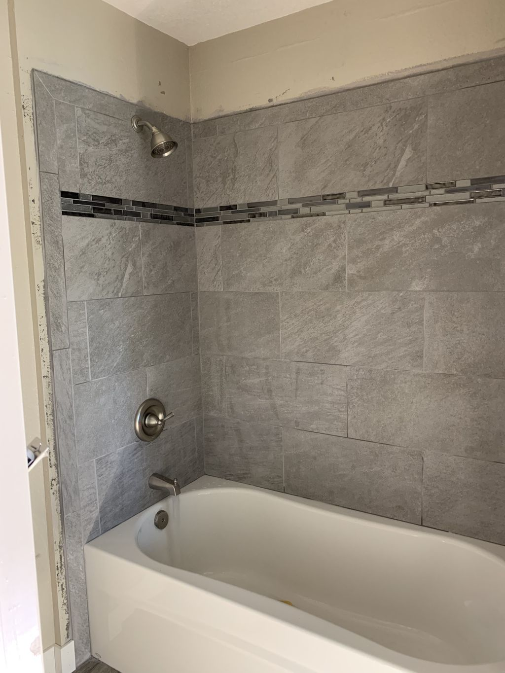 Bath and shower wall install