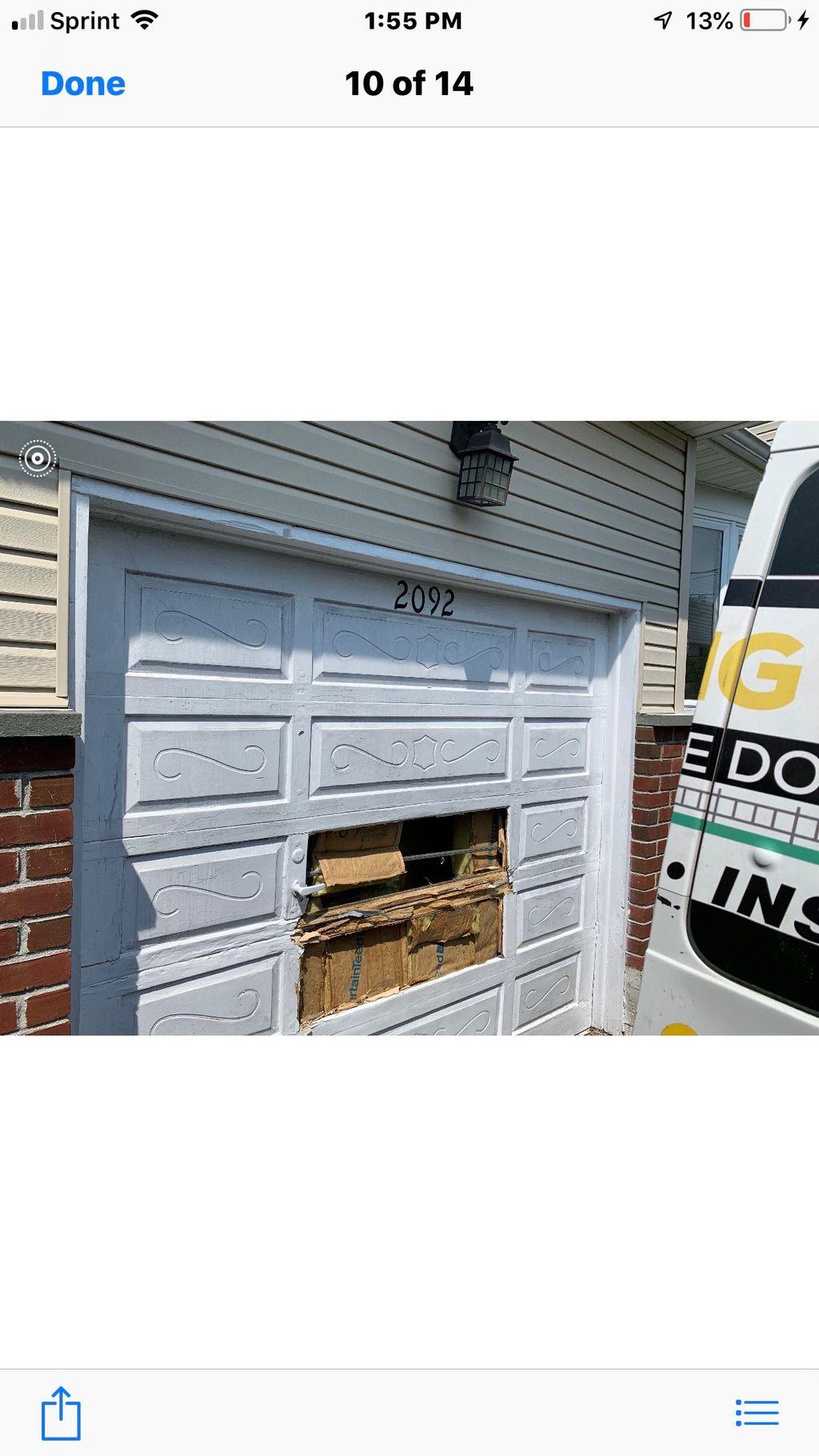 Installed Garage Door