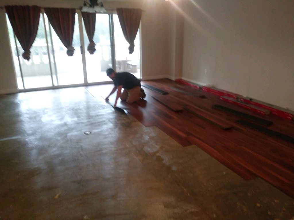 Glue down linoleum