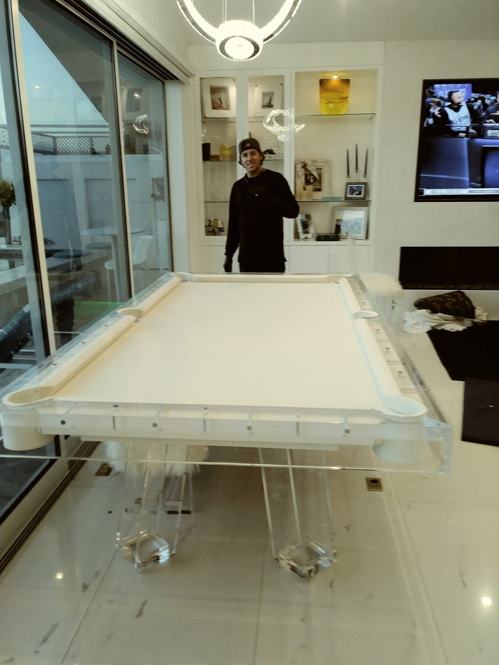 Acrylic billiard table install