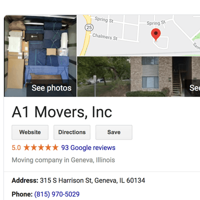 Avatar for A1 Movers, Inc Geneva, IL Thumbtack