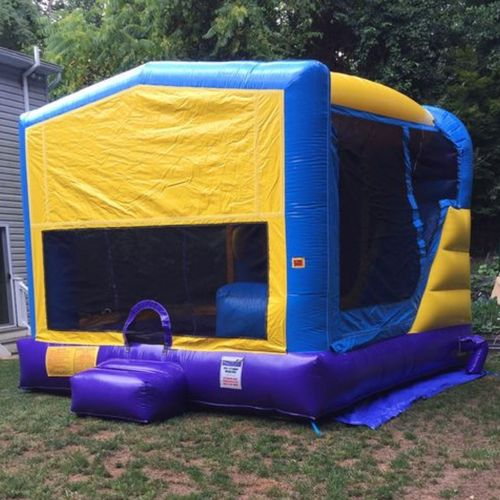 4-1 Combo includes Large Bounce Area, Basketball Hoop, Climb & Slide.