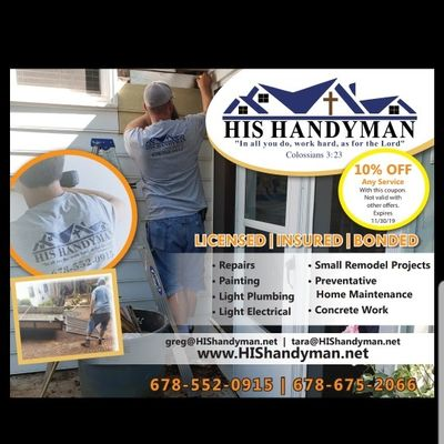Avatar for His Handyman Newnan, GA Thumbtack