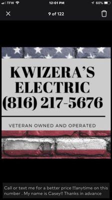 Avatar for Kwizera's Electric LLC
