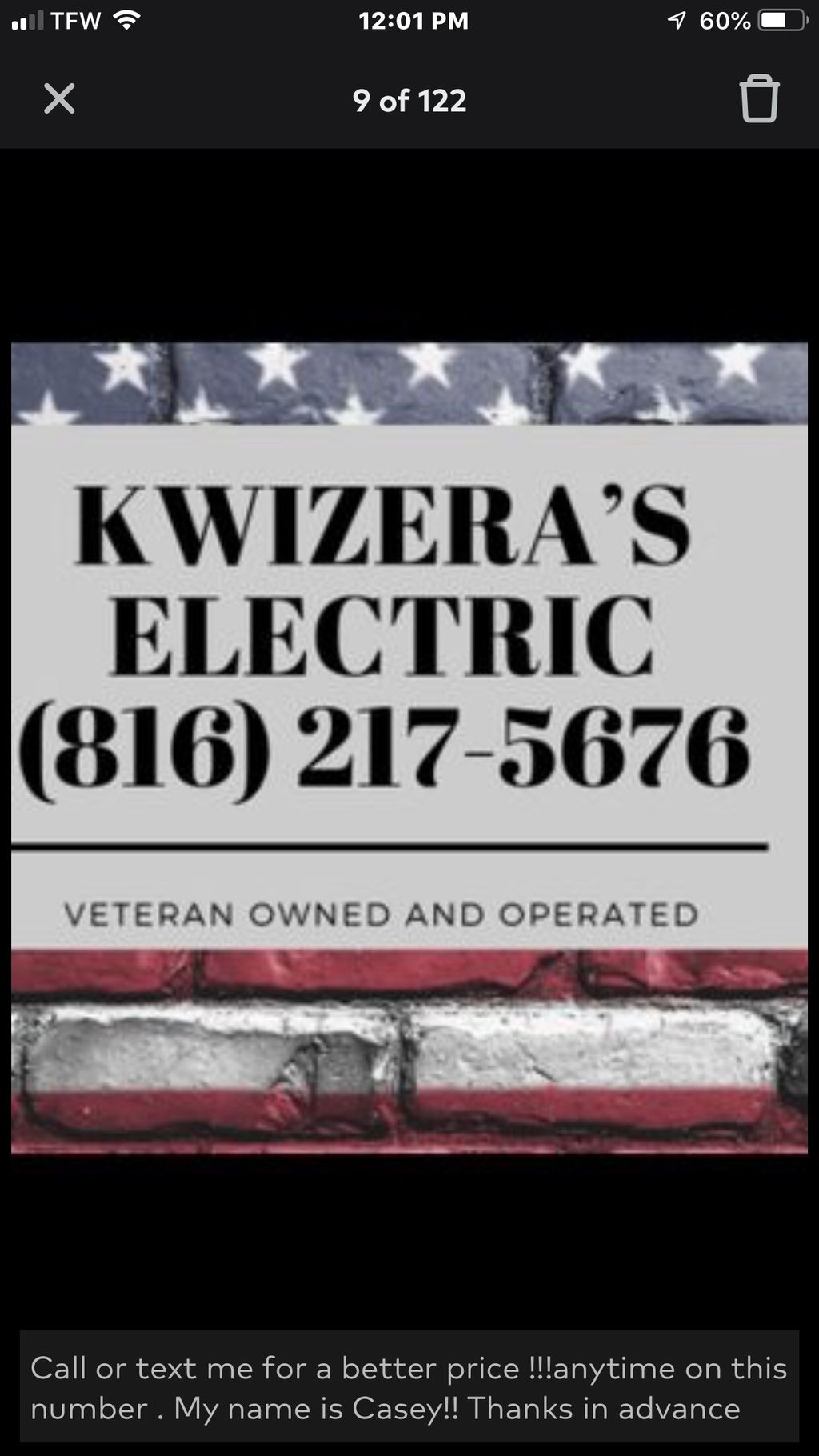 Kwizera's Electric LLC