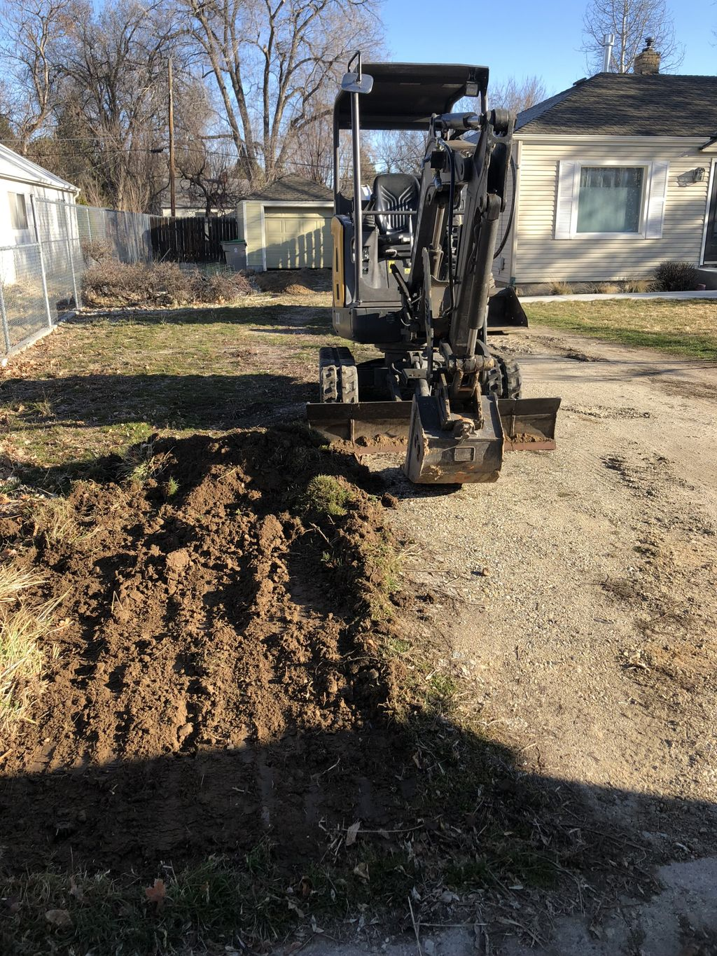 Yard Cleanup with Pipe Excavation