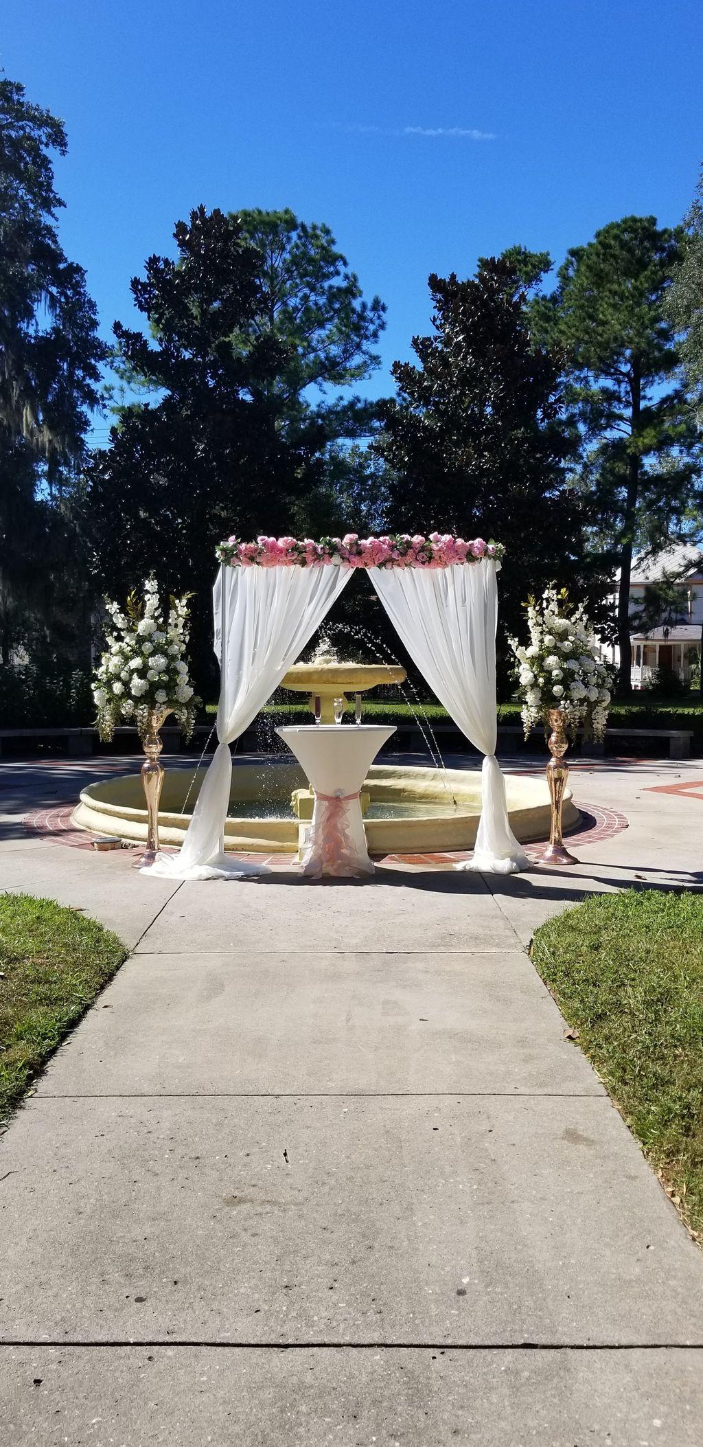 Outdoor Palm wedding