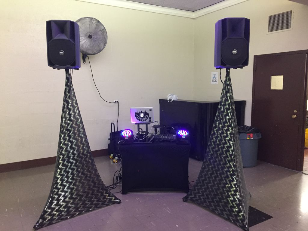 Simple DJ setup for baby shower party