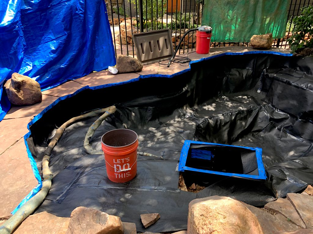 Koi pond re lining