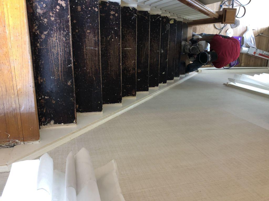 Refinish old floor