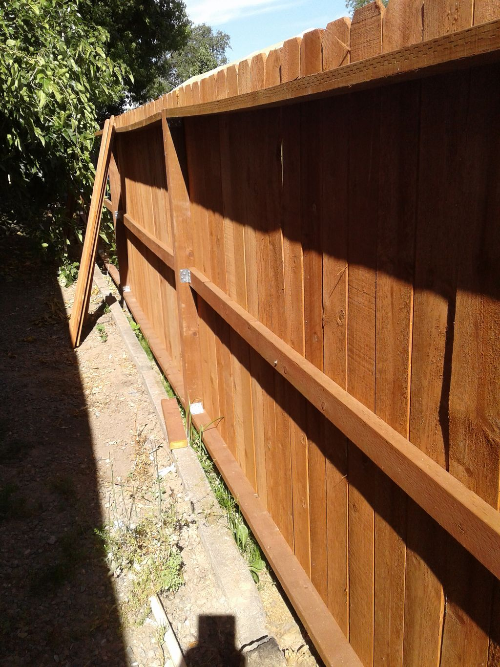 Wood fence 260 linear feet