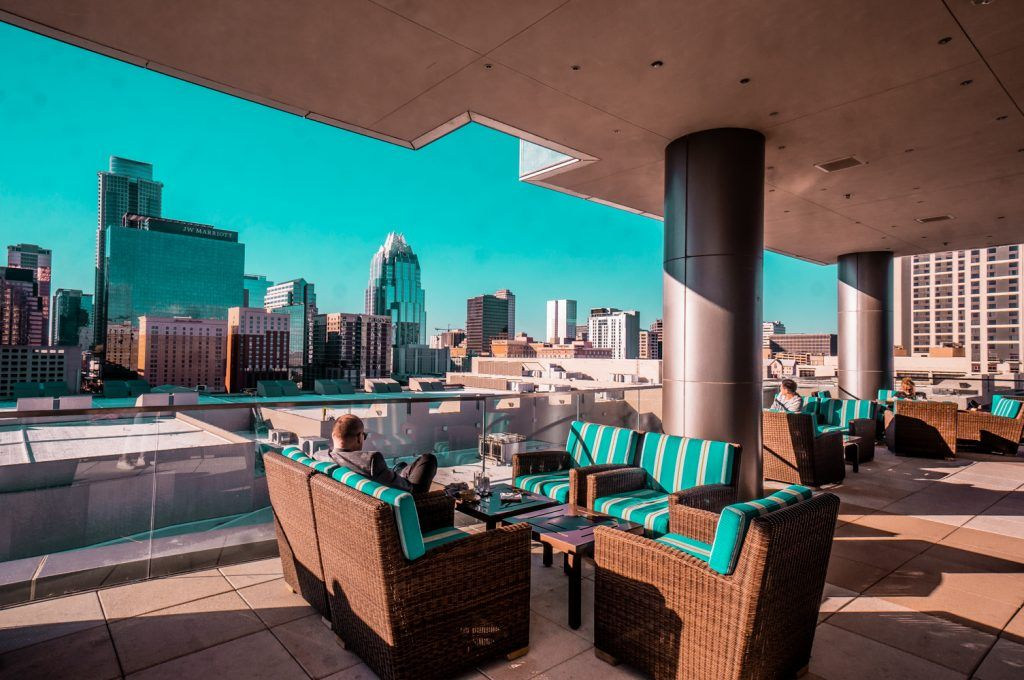 Fairmont rooftop lounge
