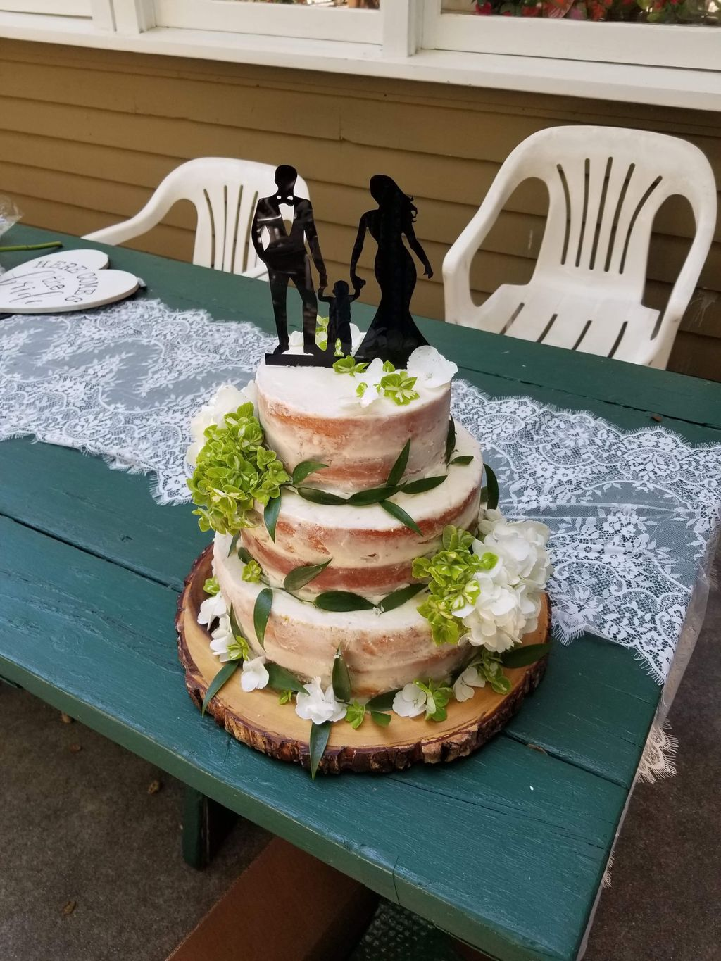 Rustic Woodsy Naked Cake
