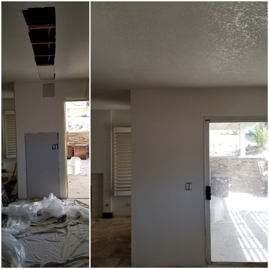 Drywall repairs due to Plumbing