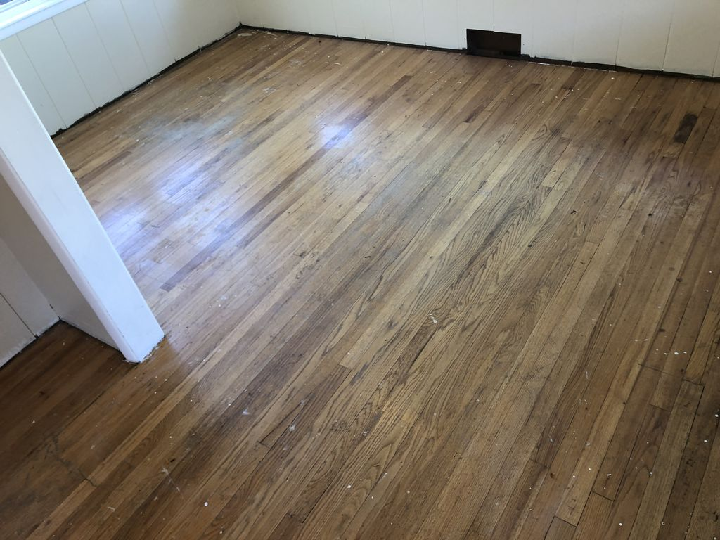 Worn and nasty floors refinished new