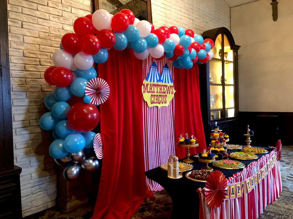Circus theme first birthday party