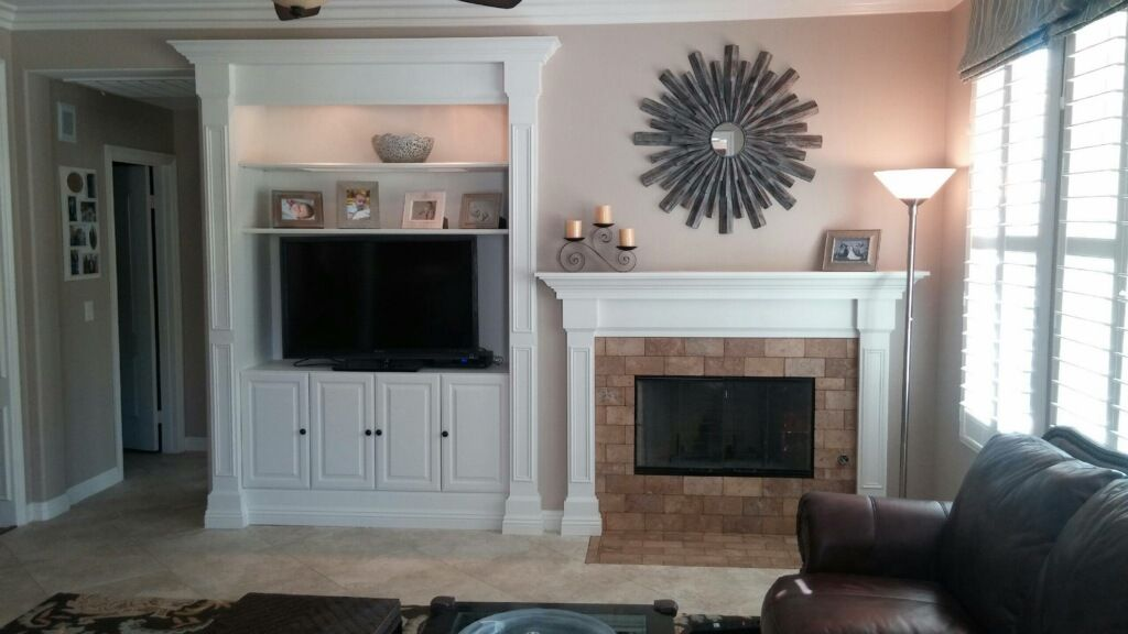 Entertainment Center and Mantle