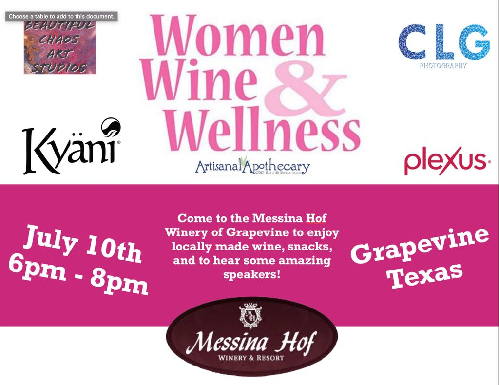 Womens Wine and Wellness Networking Event