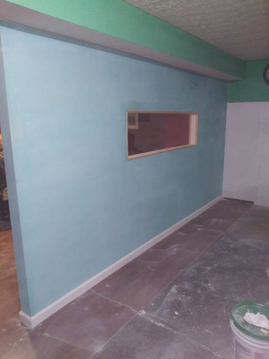 Wall frame and drywall