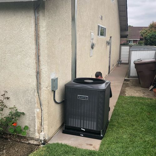 Professional install of A/C unit