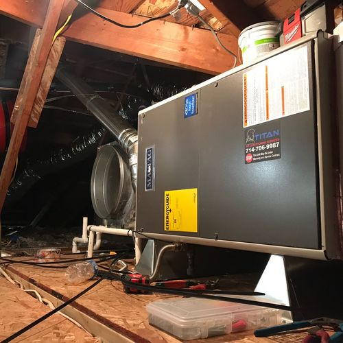 Professional install of furnace