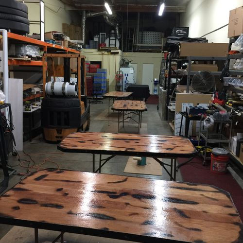 Table tops for wine Barrels
