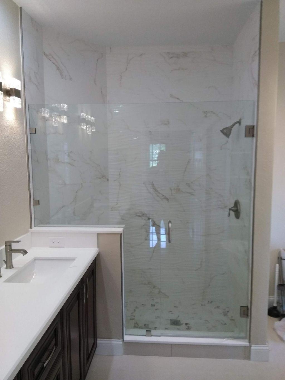 Roller sliding door sistem and frameless shower door