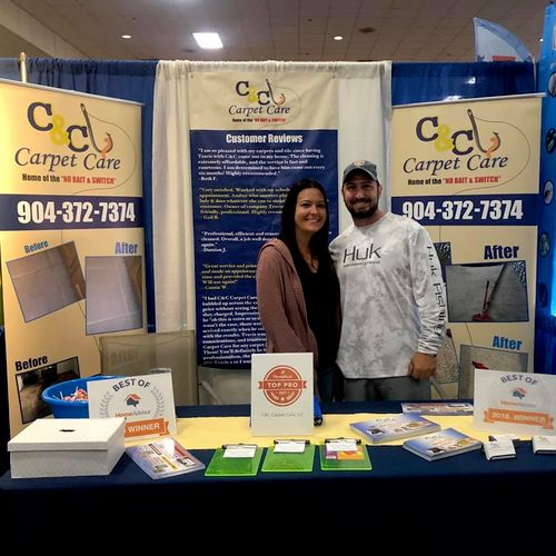 Meet the Owner's Travis and Amber. Home show 2019