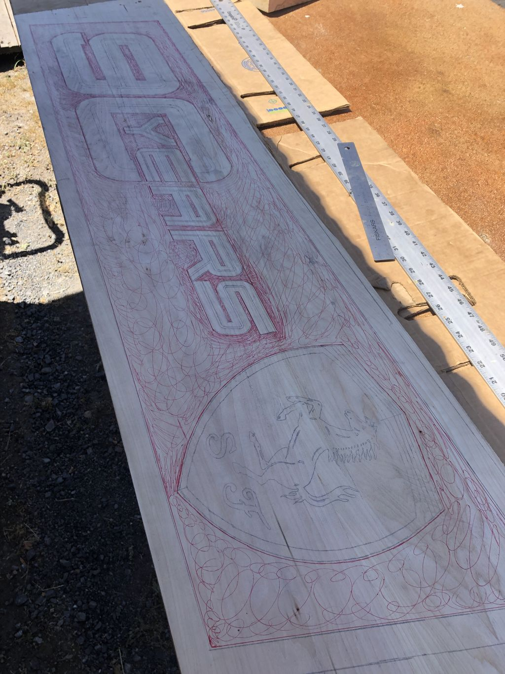Handcarved Basswood Sign - progress photos from start to finish