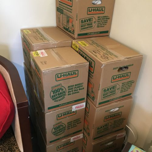 Boxes Prepared for Move