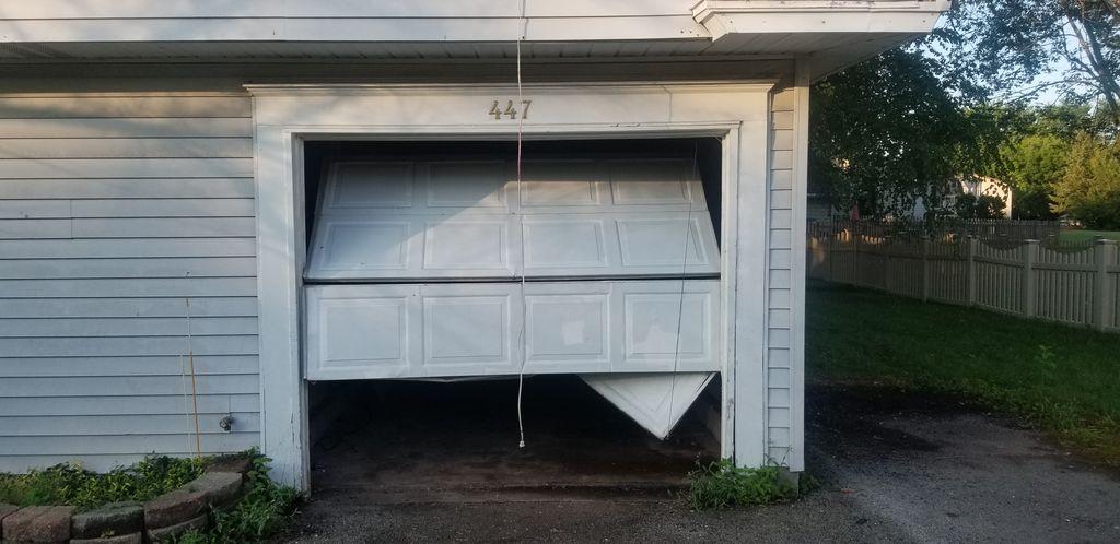 Single car garage door and opener one remote