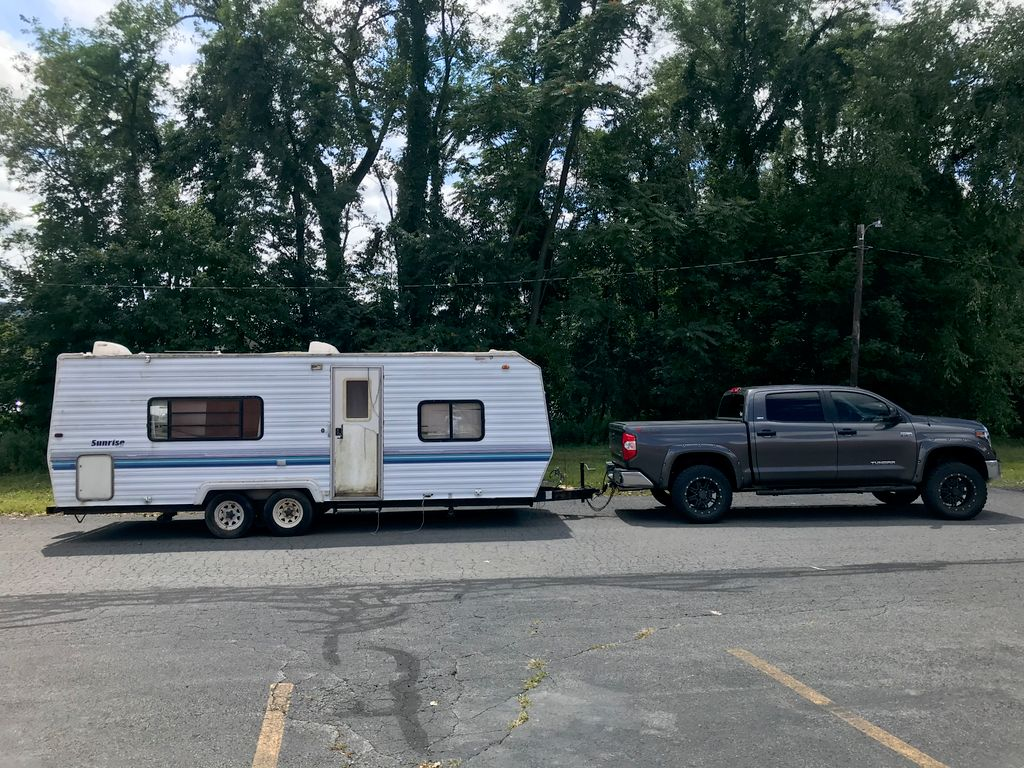 24 foot camper towing job