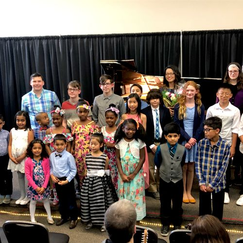 Recital group photo of a few students I taught (permission granted from parents to use photo)
