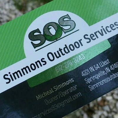 Avatar for Simmons Outdoor Services LLC Bloomington, IN Thumbtack
