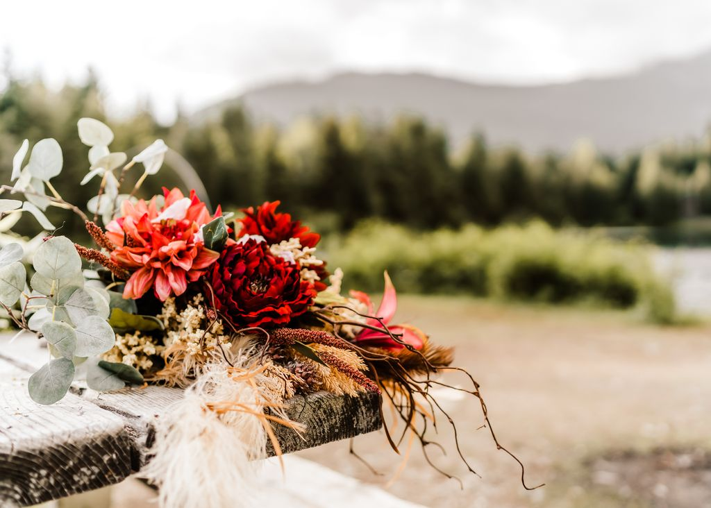 Outdoor Elopement at Gold Creek Pond