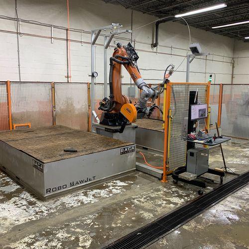 Our cutting robot KUKA