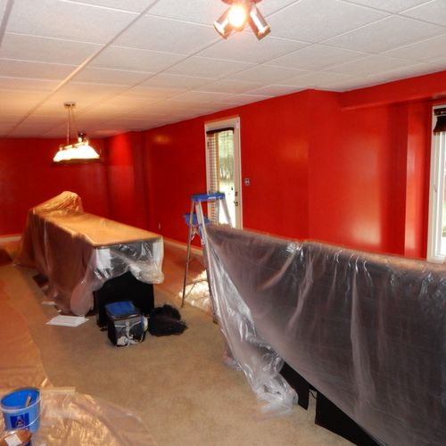 """""""Chiefs"""" room being painted"""