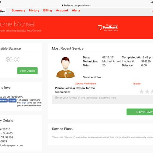 Our online customer portal makes it easy to manage your account and services.