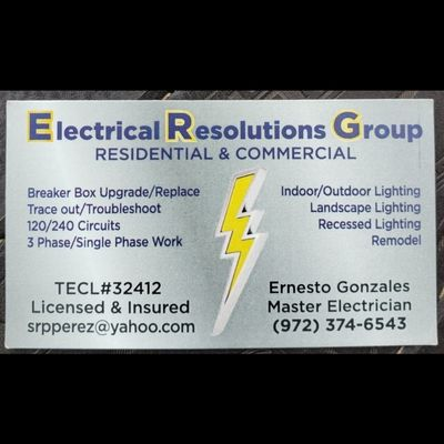 Avatar for Electrical Resolutions Group Irving, TX Thumbtack