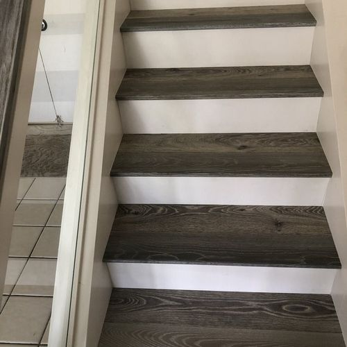 SPC Stairs with White Risers