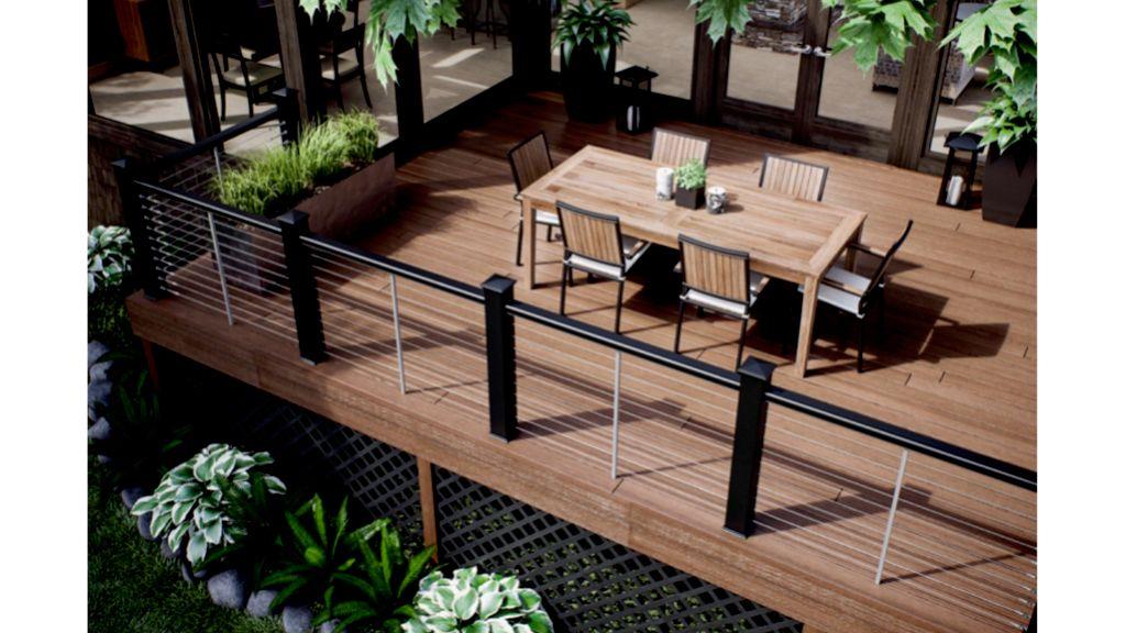 Dark sky terrace deck patio