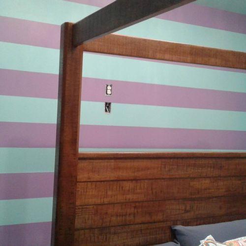 restaurant owners daughters bedroom wall