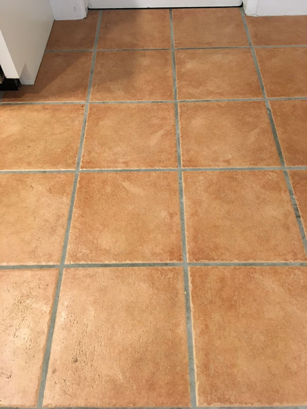 Clean Tile and grout and color seal grout lines
