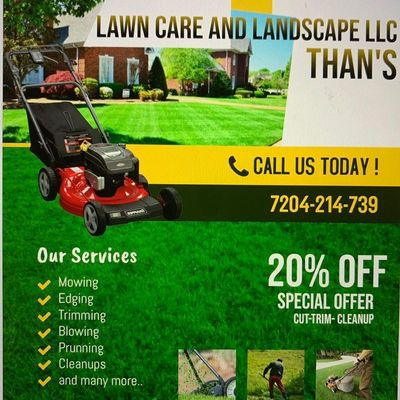 Avatar for Than Lawncare and Landscape LLC Littleton, CO Thumbtack
