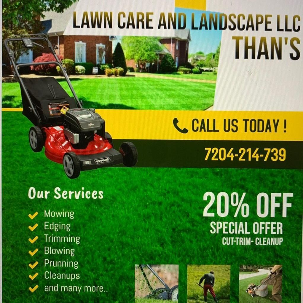 Than Lawncare and Landscape LLC