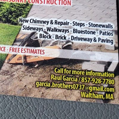 Avatar for Garcia's Masonry & Construction Waltham, MA Thumbtack