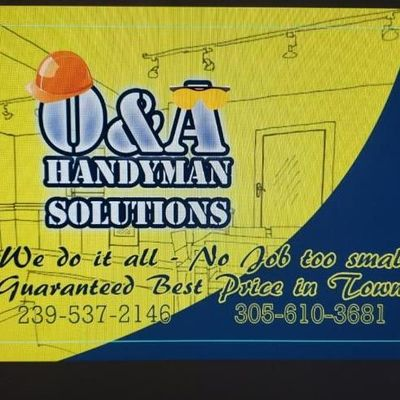 Avatar for O&A handyman solutions Naples, FL Thumbtack
